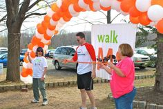 Ribbon Cutting at the Roxbury, NJ MS Walk! 4.15.12