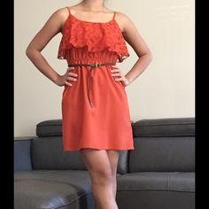 Trixxi Orange Dress Very cute Orange Dress. Like new I had worn just once.   Price is firm unless bundle. Trixxi Dresses Mini