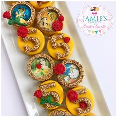 Beauty And The Beast Birthday Party Cake Pops, Rice Krispy Treats, Chocolate Covered Oreos. TheIcedSugarCookie.com Jamie's Cake Pops & Creative Events