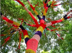 Magda Sayeg's been knitting since she was small and in 2005 she founded Knitta, a collective of Yarn Bombers who took to transforming urban spaces with woo