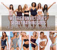 Here's What Victoria's Secret Swimsuits Look Like On Real Women Victoria Secret Catalog, Victoria Secret Angels, Average Size Women, Revealing Swimsuits, Swimwear Sale, Model Body, Positive Body Image, Bikini Bodies, Mannequins