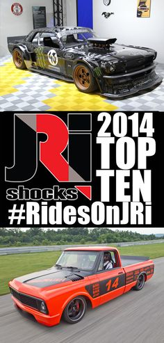 From Ken Blocks Hoonicorn Mustang to Angelo Vespi's '69 Camaro built by @Detroit Speed 2014 saw some high profile and award winning cars riding on JRi Shocks. Here is our list of the TOP TEN #RidesOnJRi vehicles from 2014.