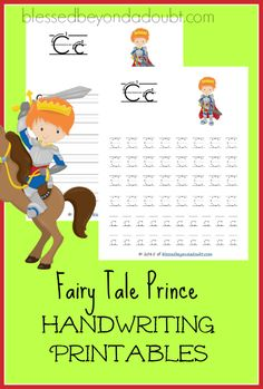 Hurry and grab this super cute Prince Handwriting printable set - print edition for FREE!