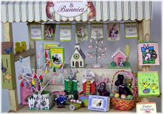 Printable Easter Miniatures | DYI DOLLHOUSE MINIATURES: BASKETS AND BUNNIES....AN EASTER PEDDLER'S ...
