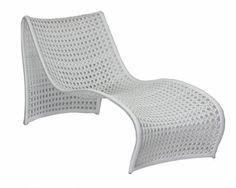 Woven White Outdoor Modern Curved Chaise - Mecox Gardens