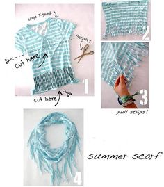 Adorable T-shirt scarf