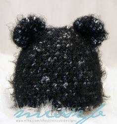 Crochet Hat Pattern  Bear Newborn Boy or Girl Hat by missybdesigns, $4.50