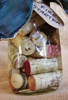 Wine Cork Fire Starters in a Mason Jar Wine Cork Projects, Wine Cork Crafts, Diy Crafts To Sell, Fun Crafts, Camping Fire Starters, Emergency Preparation, Diy Projects To Try, Project Ideas, Craft Projects