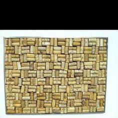 Wine cork, cork board