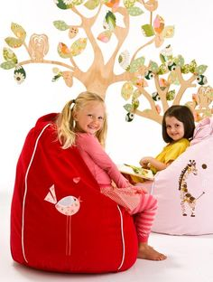 Red and Pink Early Bird bean bag... for that 'red and pink' girl!