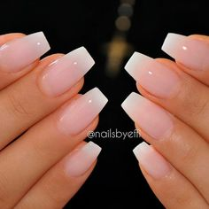 A French manicure is a truly classic nail polish look. Perfect for a clean, cris. A French manicure is a truly classic nail polish look. Perfect for a clean, crisp and stylish finish to any outfit, the French manicure is often favoured by man Classy Acrylic Nails, Natural Acrylic Nails, Classy Nails, Acrylic French Manicure, Acrylic Gel, Natural Color Nails, Short Natural Nails, French Acrylics, Acrylic Tips