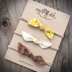 Check out our baby bow selection for the very best in unique or custom, handmade pieces from our accessories shops. Handmade Headbands, Diy Headband, Newborn Headbands, Handmade Baby, Bow Headbands, Handmade Rugs, Handmade Crafts, Baby Girl Closet, Baby Girl Bows