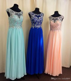 Beautiful Prom Dresses Real Images Scoop Collar Beads Crystals Chiffon And Tulle Prom Gowns With Sweep Train Open Back Camo Prom Dresses Under 100 Junior Plus Size Prom Dresses From Liuliu8899, $105.92  Dhgate.Com