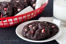 Chocolate-Peppermint-Crunch-Cookies (Andes Peppermint Pieces)