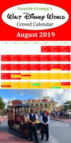 Walt Disney World Crowd Calendar 2019 tries to predict crowd levels at the Magic Kingdom, Epcot, Hollywood Studios and Animal Kingdom. Looks like the end of August when the kids start going back to school is a good time the go. The crowds are a bit lower at that time. Mid-week looks good. Disney World Resorts, Disney Parks, Walt Disney World, Disney Crowds, Disney World Crowd Calendar, Going Back To School, Hollywood Studios, Epcot, Magic Kingdom