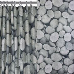 Create A Relaxing And Calming Spa Environment In Your Bathroom With This Contemporary Pebble Shower Curtain