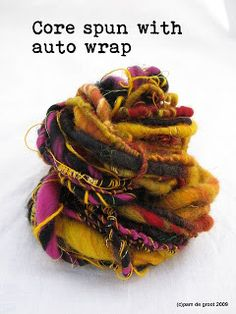 """I went to an art yarn work shop with the most amazing spinner """"Wooldancer""""  at the guild in Sydney on the weekend. It was jammed packed with..."""