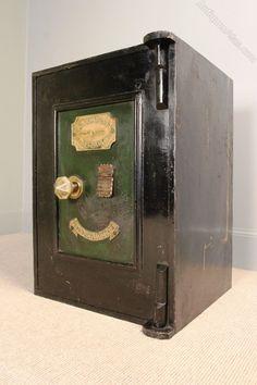 Antique Victorian Cast Iron Safe - Richard M Lord Antique Safe, Personal Safe, Safe Vault, World Clock, Safe Lock, Deposit Box, Secret Rooms, Bespoke Furniture, Cast Iron