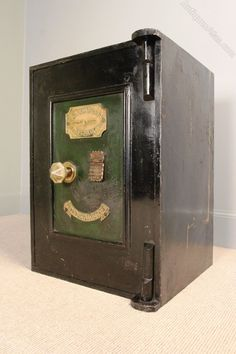 Antique Victorian Cast Iron Safe - Richard M Lord