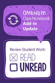 OneNote has improved the Class Notebook add-in w/ new features like a read/unread indicator for assignments! #MSFTEdu