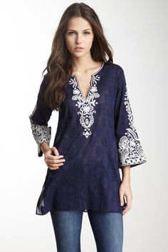 Bella Sequin Tunic evening Indian tunics are perfect for women's dressy evening tunic tops as they have embellishment and & elegance.