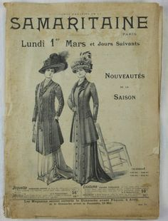 French 1909 Samaritaine Department Store catalogue by DiversCites
