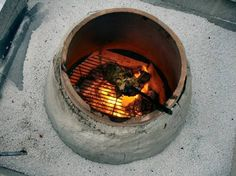 how to make a tandoor oven. This guy's description of his adventures with this and the pizza oven are so funny! Very helpful how-to. Bbq Stove, Stove Oven, Backyard Kitchen, Outdoor Kitchen Design, Tandoor Oven, Clay Oven, Bread Oven, Allotment Gardening, Wood Fired Pizza