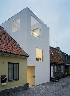 Townhouse designed by Elding Oscaron Architects, Landskrona, Sweden - 2009.