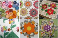 Hexagon Flowers by kalanchoe612, via Flickr