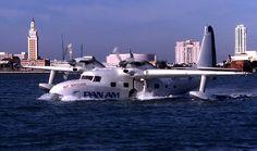 Pan Am Air Bridge Grumman G-73 Turbo Mallard off Watson Island in Miami, circa 1997.
