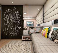 """117 curtidas, 12 comentários - • Arquitetura e Decoração (@carolruiz.arqdecor) no Instagram: """"Esse quadro negro no home office é vida! . . . #arqbrasil #arquitetapage #arquitetura #architecture…"""""""