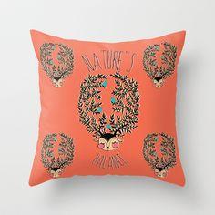 natures balance Throw Pillow by JoanaRosaC - $20.00