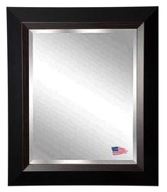 "Jovie Jane Brown Lining Wall Mirror | Wayfair  32.75"" x 26.75"" $210.14"