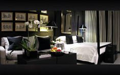 Blakes hotel london - lavish black and white bedroom by anouska hempel