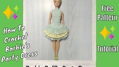 Crochet Barbie Ruffled Party Dress
