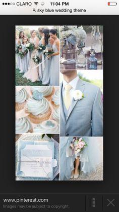 The 36 best Skyblue Wedding Theme images on Pinterest | Wedding ...