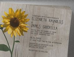 Rustic Sunflower Wedding Invitations  Invites  by InvitationSnob, $21.50.  Check out the artist's link.