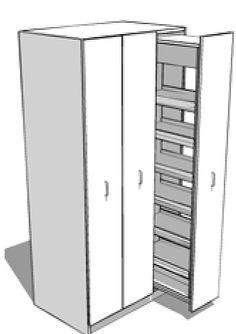 """Résultat de recherche d'images pour """"armoire tiroir coulissante"""""""
