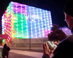 The entire facade of the Ars Electronic Building in Linz, Austria has become the world's largest playable Rubik's cube thanks to a color-changing illuminated facade controlled by a 3D-printed devic...