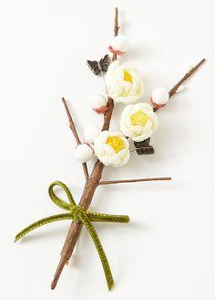 Japanese plum brooch 小梅ブローチ