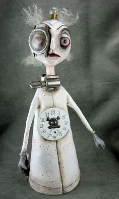 Steampunk Art Doll Evil Surgeon - by Michele Lynch from Assemblages and Mixed Media Art Gallery