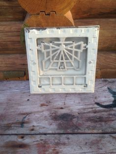 So cool. An antique cast iron vent grate cover register heat duct - call it what you like.