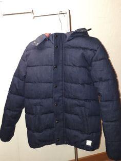 a5ad4f7dba74 Beau manteau garçon mango - Superbe manteau bleu jeans hiver avec capuche  amovible Neuf 12 ans