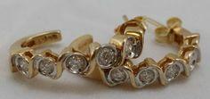 Stunning Diamonds! 14KT Gold 1CWT Diamond Earrings L@@K!