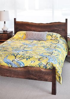Live Edge Bed in Western Walnut