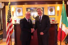 Franco and Foreign Minister Paolo Gentiloni President's Day came early to Washington.  …  one week to the day, to be exact.  That's when Italian President Sergio Mattarella lunched at Georgetown's Cafe Milano with Foreign Minister Paolo Gentiloni and Italian Ambassador Claudio Bisogniero.