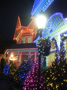 Christmas lights galore at Dollywood, Pigeon Forge, TN
