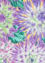 Philip Jacobs Fabric, Cactus Dahlia Pastel (per 1/4 metre)
