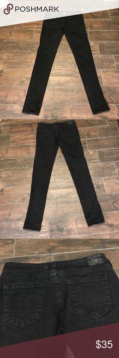 "True Religion Black Jeans Black long straight leg jeans. True Religion size 32. 41"" long. Great condition! True Religion Jeans Straight Leg"