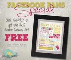 Sugarflies Designs: FREE EASTER SUBWAY ART #easter #subwayart #eastersubwayart